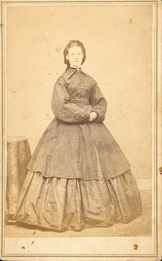 1860s coat. I like the belt detail!