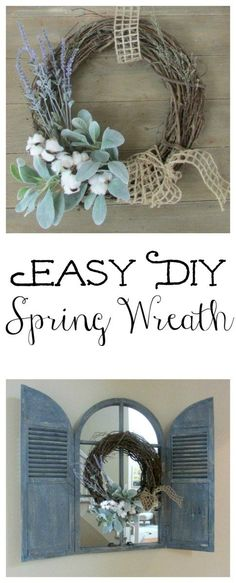 Easy DIY Spring Wreath in 10 minutes for $10