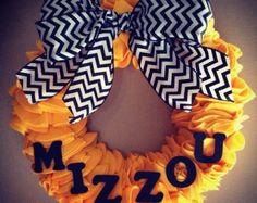 Mizzou wreath. DIY idea.