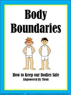 Body Boundaries worksheet - special ed