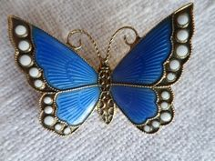 97 best images about Norwegian enamel butterfly brooches on ...