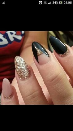 Pink, gold and black. Love that middles finger