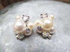 DIY Cluster Pearl Earrings Tutorial | Wedding Jewelry Series | eclecticdesigns - YouTube