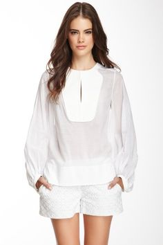 Diane von Furstenberg Mallegra Long Sleeve Blouse by White: Sleek & Chic on @HauteLook