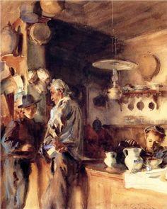 A Spanish Interior - John Singer Sargent