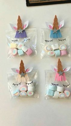 25 Cool Unicorn Party Ideas for Kids Unicorn Party Favor Bags with multi color marshmallows. How cute are those rainbow treats! 25 Cool Unicorn Party Ideas for Kids Unicorn Party Favor Bags with multi color marshmallows. How cute are those rainbow treats! Diy Unicorn Birthday Party, Birthday Party Decorations, Birthday Ideas, Food Decorations, Unicorn Party Bags, Birthday Month, Rainbow Unicorn Party, Birthday Celebration, Birthday Crafts