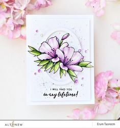 Erum created this masterpiece by coloring the Springtime Azalea flowers with our Artist Markers. Stunning, right? www.altenew.com
