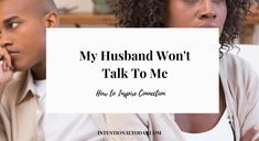 How to inspire connection when your husband hates talking Communication In Marriage, I Am Exhausted, Keep Praying, Asking For Forgiveness, Below The Surface, Christian Wife, Root Canal, Marriage Problems, Waiting For Him