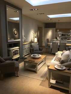 20 Cute Living Room Design Ideas for You to Create Gagohome Cottage Living Rooms, Living Room Grey, Small Living Rooms, Home Living Room, Living Room Decor, Living Room And Kitchen Design, Open Plan Kitchen Living Room, Interior Design Living Room, Living Room Designs
