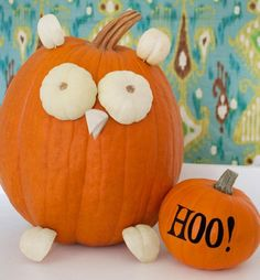 calabaza de Halloween en forma de buho