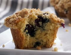 This scrumptious blueberry crumb muffin combines brown sugar and lemon zest to the normal style muffin recipe for a great flavor profile.