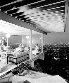 Case Study House 22, LA, Pierre Koenig, 1959, fot. Julius Shulman