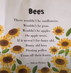 Quotes About Bees, Bee Poem, English Poems For Kids, Cute Doodles Drawings, Garden Poems, Bee Quotes, Hives And Honey, Positive Energy Quotes, Poetry For Kids
