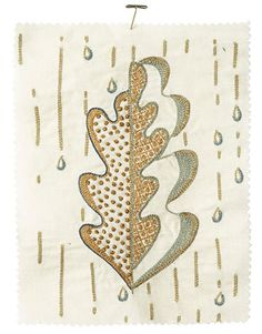 embroidered leaf - from housebeautiful.com