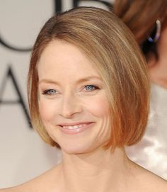 Want a timeless look? Take a page from Jodie Foster's book and ask your stylist for a simple blunt bob that hits directly below the chin.  - GoodHousekeeping.com