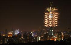 Taipei 101 Fireworks -- Taipei