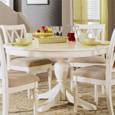 48 in The expandable butterfly leaf allows you to lengthen the table during parties and contract it during family dinners.