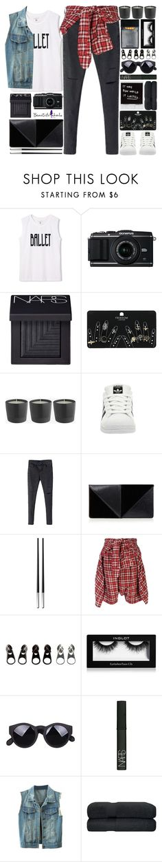 """""""BEAUTIFULHALO"""" by alex-fox1 ❤ liked on Polyvore featuring NARS Cosmetics, Topshop, adidas, UN United Nude, Christofle, R13, Full Tilt, Inglot and beautifulhalo"""