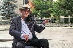 Street Musician In The Old Town Of Bucharest, Romanis Print by Barry O Carroll Street Musician, Bucharest, Old Town, Romania, Fine Art America, Old Things, Photography, Fotografie, Photograph