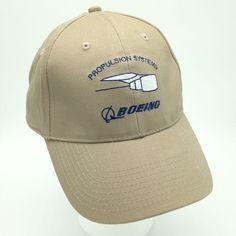 Boeing Propulsion Systems Jet Engine Tan Strapback Baseball Hat Cap Aviation #Boeing #BaseballCap