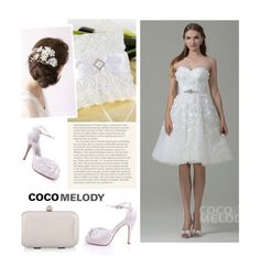 """Wedding, dear"" by merima-kopic ❤ liked on Polyvore featuring wedding and Cocomelody"