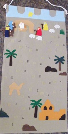 mary/joseph advent calendar with template