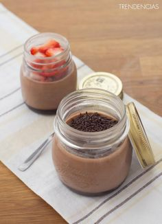 Panna Cotta de Nutella Shirley Temple, Flan, Deli, Sweet Recipes, Panna Cotta, Pudding, Sweets, Cooking, Ethnic Recipes