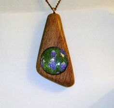 Bluebonnets  and Mesquite necklace by tapcraft on Etsy, $12.50