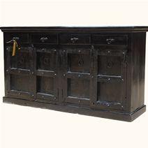 >Kansas City Indian Rosewood & Reclaimed Wood Buffet Cabinet
