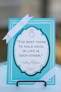 Custom Tiffany & Co. Inspired Party Signage on Etsy, $20.00
