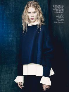 Ondria Hardin, Juliana Schurig & Sasha Luss by Paolo Roversi for Vogue China October 2013