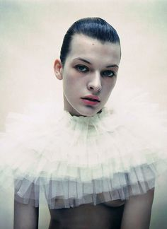 Milla Jovovich by Mario Sorrenti for i-D — The Quiet Front
