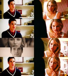 """quaintwin:  """"I know about you and Cooper."""" She freezes, her heart clenching in her chest as she looks up at Blaine. """"What?"""" He glances away, his arms tightening over his chest. """"Rachel saw you two together."""" Her mind flashes back to that afternoon in the auditorium, to Cooper's lips on hers before she could stop him, and her hands firm on his chest as she pushed him away. She swings her legs over the edge of the bed, her expression earnest as she stares up at him. """"It's not what you think…"""