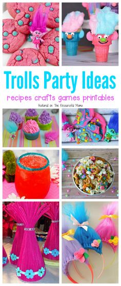 Fun Filled Trolls Party Ideas - Movie - Ideas of trending and latest movie - - Lots of fun Trolls party ideas including recipes crafts games and printables for your Trolls movie night or Trolls birthday party. Sleepover Party, Pamper Party, 6th Birthday Parties, Birthday Fun, Birthday Ideas, Princess Birthday, Trolls Birthday Party Ideas Cake, 3rd Birthday Party For Girls, Paris Birthday