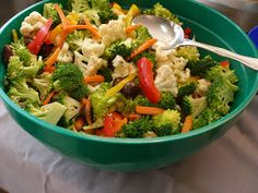 Easy, make ahead salad for office lunches