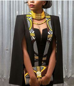 Love this African print.