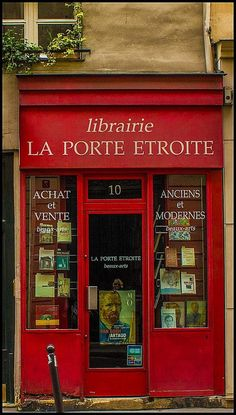 La Porte Etroite (the narrow door) librairie ~ Paris, France (source unknown)