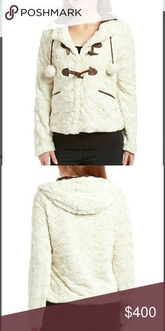 COMING SOON!! Faux fur Jacket White faux fur Super soft cozy jacket. M is 23in long from shoulder to hem. Chupchick  Jackets & Coats