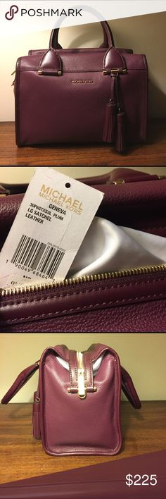 Michael Kors Geneva Large Satchel Leather Large leather satchel, new with tags and protective bag MICHAEL Michael Kors Bags Satchels