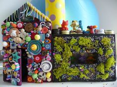 Welcome To The Crazy House - Making a crazy toy house is a great way to tell a story. Inspired by the work of artist Tyree Guyton.
