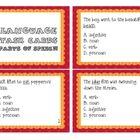 parts of speech task cards $