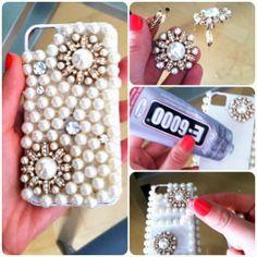 DIY : make a cute pearl iPhone cases
