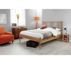 Argos Silentnight Hamilton Double Bed Frame - Light Oak