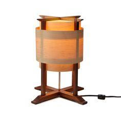 WOODEN WRAP LAMP | wood lamp, handmade | UncommonGoods