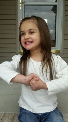 Meet Isenia, she is 4 years old and has Rett Syndrome. Rett Syndrome isn't contagious, but her smiles and giggles are!
