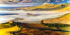 Sunrise at Val d'Orcia, Italy
