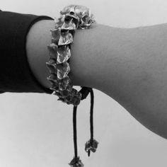 Bracelet Serpent, Snake Bracelet, Skull Bracelet, Skull Jewelry, Gothic Jewelry, Men's Jewelry, Jewelery, 925 Silver Bracelet, Silver Pendant Necklace