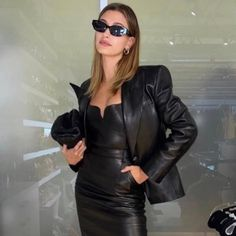 Leather Skirt, Leather Jacket, Life Is Precious, Cult Following, Jennifer Fisher, Night Out, Elegant, Celebrities, Jackets