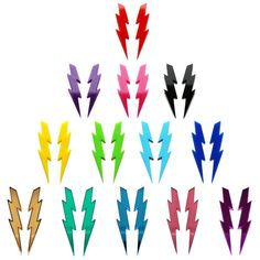 Image of LIGHTNING BOLTS<br>Earrings<br>10 colors available