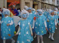 Invierno Rain Costume, Star Costume, Costume Dress, Blue Costumes, Diy Costumes, Halloween Costumes, Carnival Crafts, Carnival Costumes, Autumn Activities
